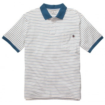Pocket Polo - Yellow/Blue Stripe